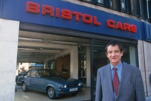 Tony Crook outside of the Bristol showroom.