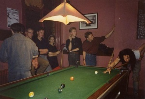 Found a pic of one of the pool tables in Jaceys Bar Nottingham yeh x