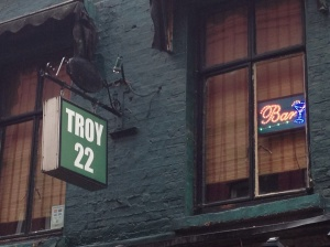 Troy club and then downstairs Spanish Bar.