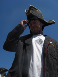 Rob against a blue sky with a hat on just as I remember him x