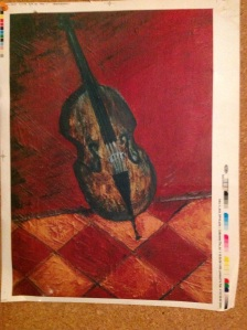 A Cello - oil on canvas pauliepaul